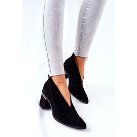 Stivali in pelle con tacco alto Laura Messi Nero 2344 1