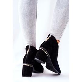 Stivali in pelle con tacco alto Laura Messi Nero 2344 3