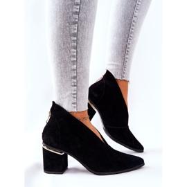 Stivali in pelle con tacco alto Laura Messi Nero 2344 4