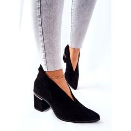 Stivali in pelle con tacco alto Laura Messi Nero 2344 5