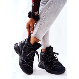 POTOCKI Scarpe sportive nere con zeppa Hesane nero 5