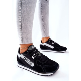 Scarpe sportive in pelle Big Star II274271 Nero bianca 4
