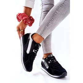 Scarpe sportive in pelle Big Star II274271 Nero bianca 6