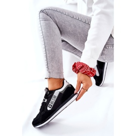 Scarpe sportive in pelle Big Star II274271 Nero bianca 8