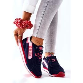 Scarpe sportive in pelle Big Star II274270 Blu navy bianca rosso 1