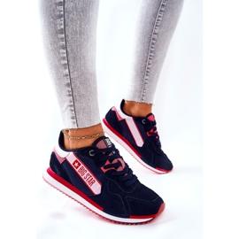 Scarpe sportive in pelle Big Star II274270 Blu navy bianca rosso 3