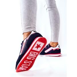 Scarpe sportive in pelle Big Star II274270 Blu navy bianca rosso 4