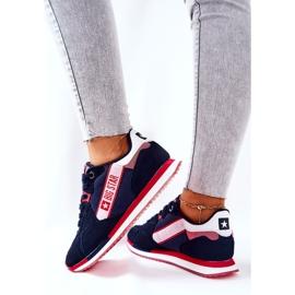 Scarpe sportive in pelle Big Star II274270 Blu navy bianca rosso 5