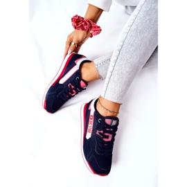 Scarpe sportive in pelle Big Star II274270 Blu navy bianca rosso 7
