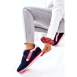 Scarpe sportive in pelle Big Star II274270 Blu navy bianca rosso 8