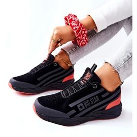 Scarpe Sportive in Pelle Big Star II274460 Nere nero rosso 6