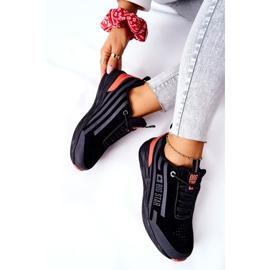 Scarpe Sportive in Pelle Big Star II274460 Nere nero rosso 7