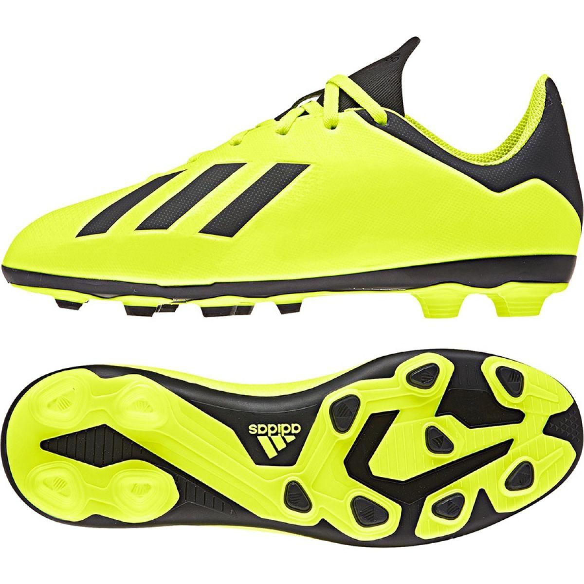 Dettagli su Scarpe da calcio adidas X 18.4 FxG Jr DB2420 giallo giallo