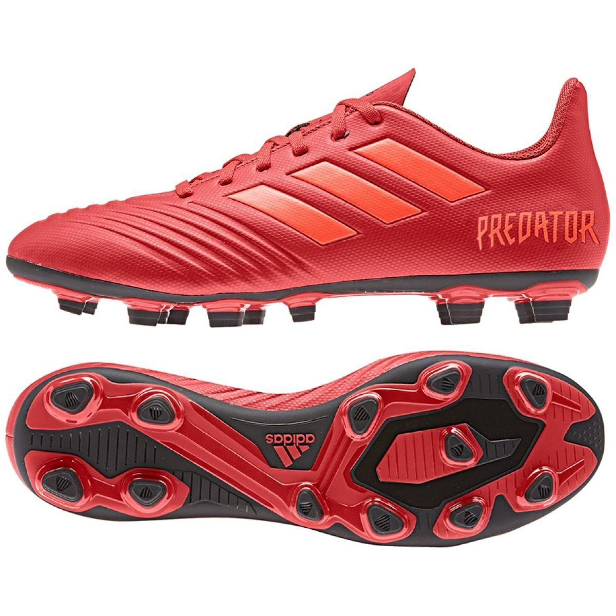 Scarpe Da Calcio adidas Predator 19.1 FG Rosso Rosso Solare