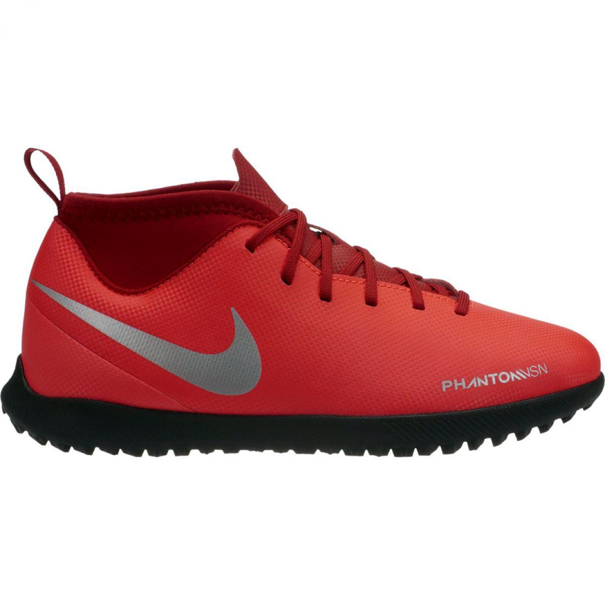 Dettagli su Scarpe da calcio Nike Phantom Vsn Club Df Tf Jr AO3294 600 rosso rosso