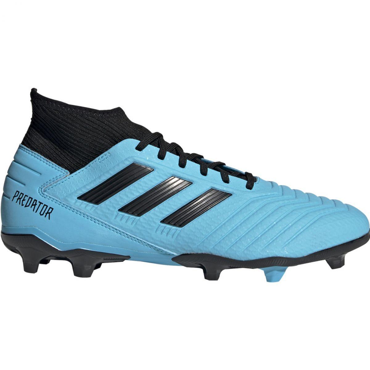 Dettagli su Scarpe da calcio adidas Predator 19.3 Fg M F35593 blu