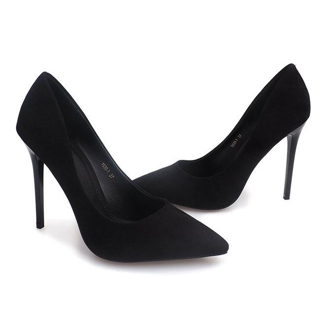 nuovo stile di vita scarpe eleganti Scarpe 2018 Dettagli su Nero Tacchi alti in pelle scamosciata 1030 neri