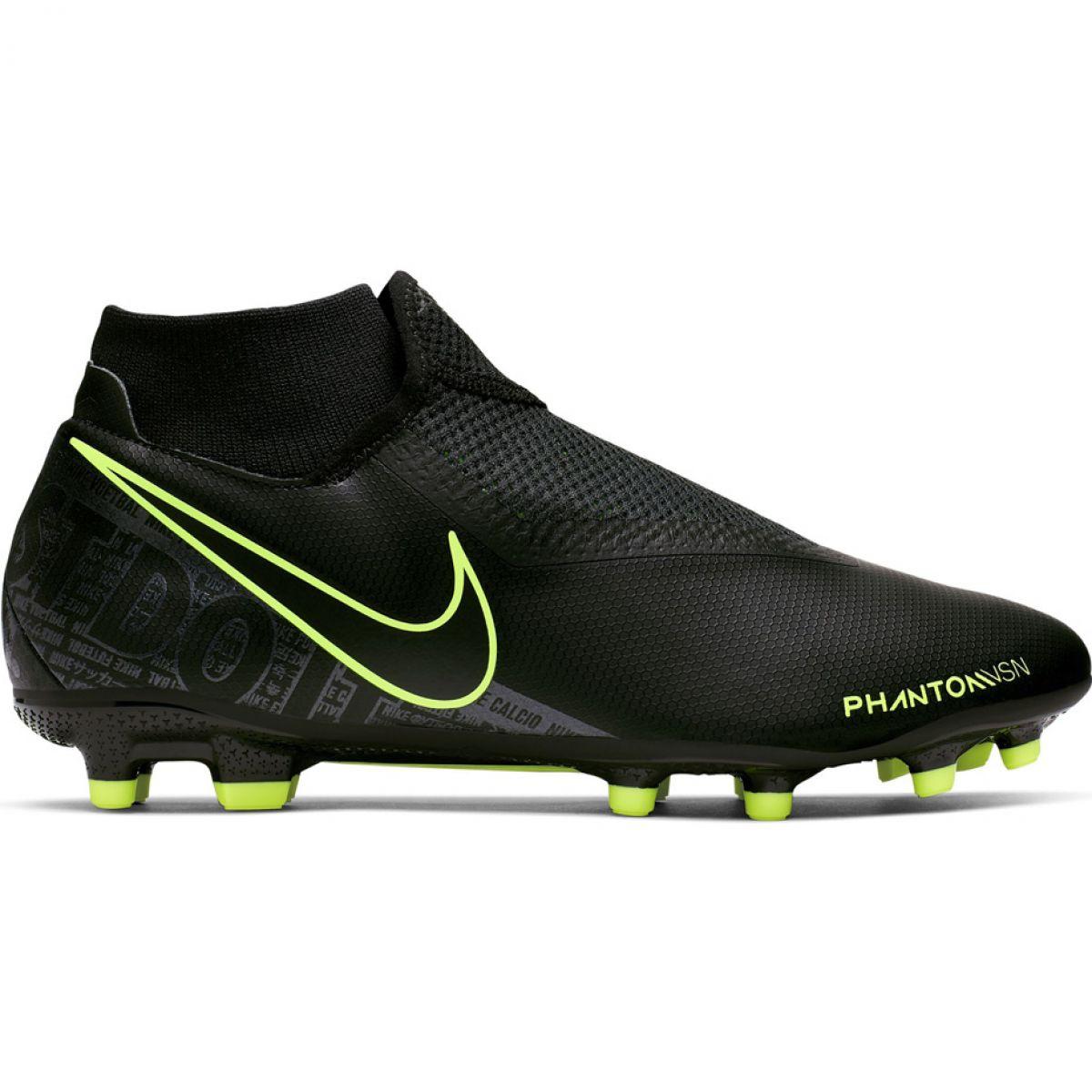 Dettagli su Scarpe da calcio Nike Phantom Vsn Academy Df FG MG M AO3258 007 nero nero