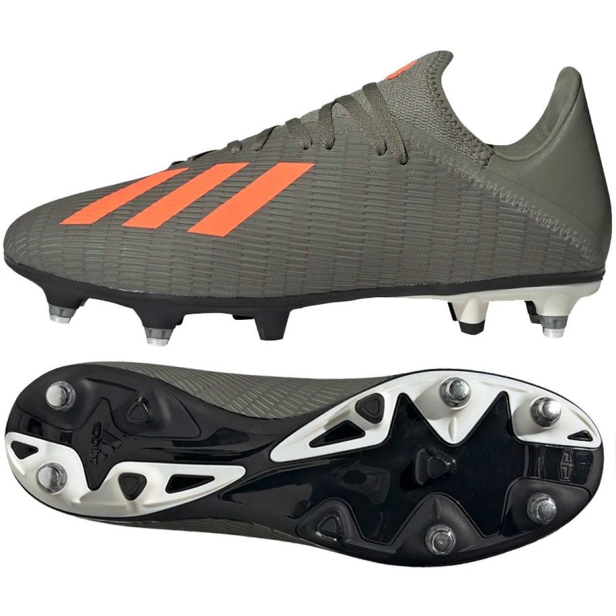 Dettagli su Scarpe da calcio Adidas X 19.3 Sg M EG2838 grigio grigio argento
