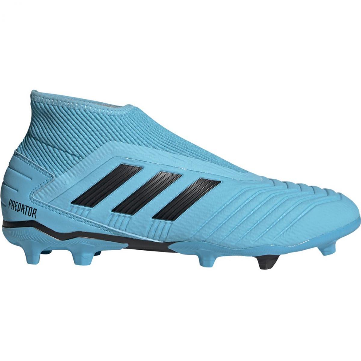Dettagli su Scarpe da calcio Adidas Predator 19.3 Ll Fg M G27923 blu nero, blu